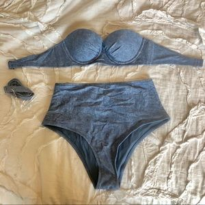 Aerie High Rise Swimsuit Set NWT